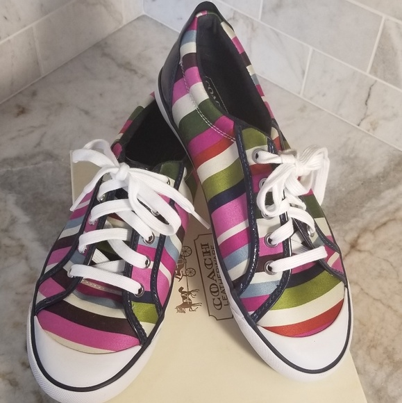 Coach Shoes - Coach Legacy Stripe Barrett Sneaker NIB